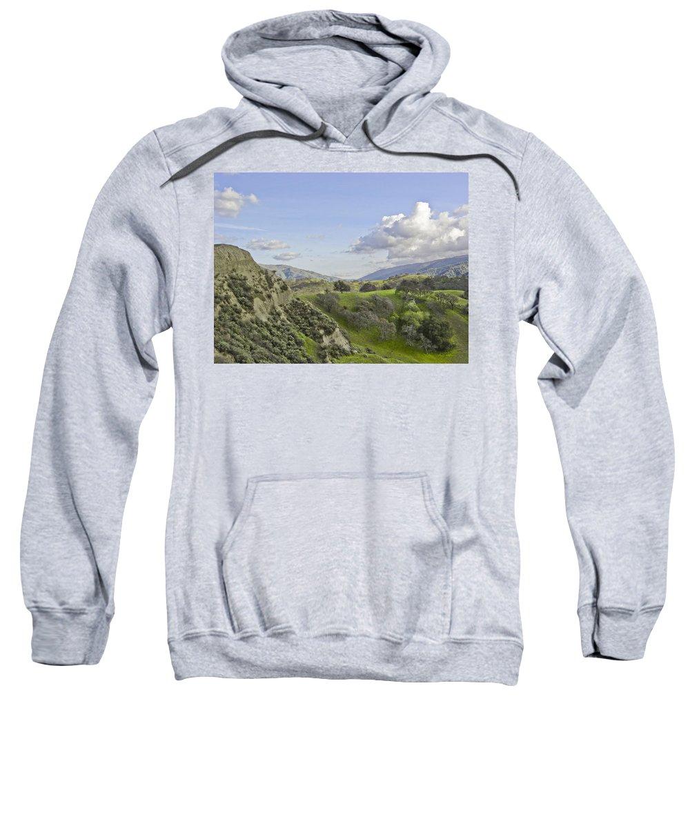 Landscape Sweatshirt featuring the photograph Swallow Bay Cliffs by Karen W Meyer