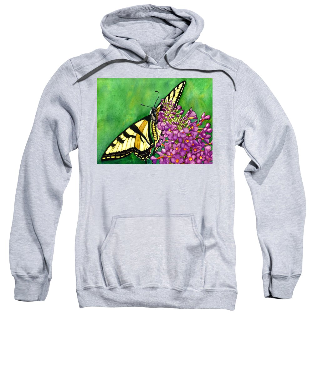 Butterfly Sweatshirt featuring the painting Swallowtail 1 by Catherine G McElroy