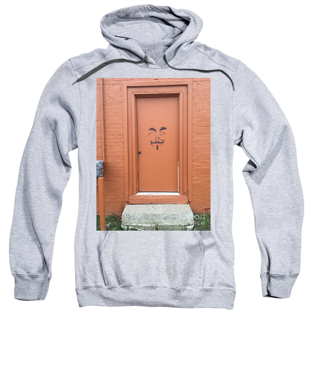 Graffiti Sweatshirt featuring the photograph Swann Door by Joseph Yarbrough