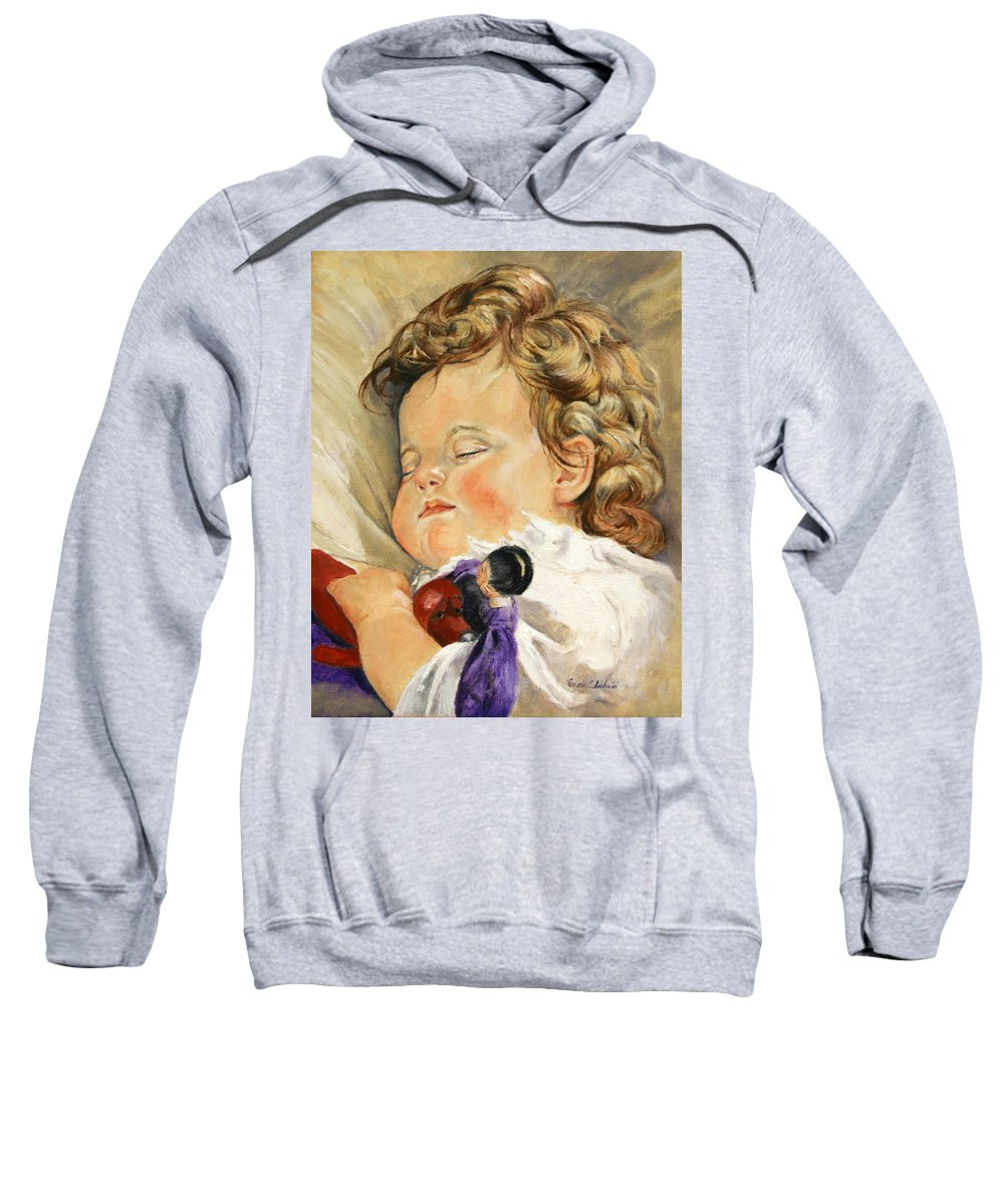 Children Portraits Sweatshirt featuring the painting Sweet Dreams by Portraits By NC