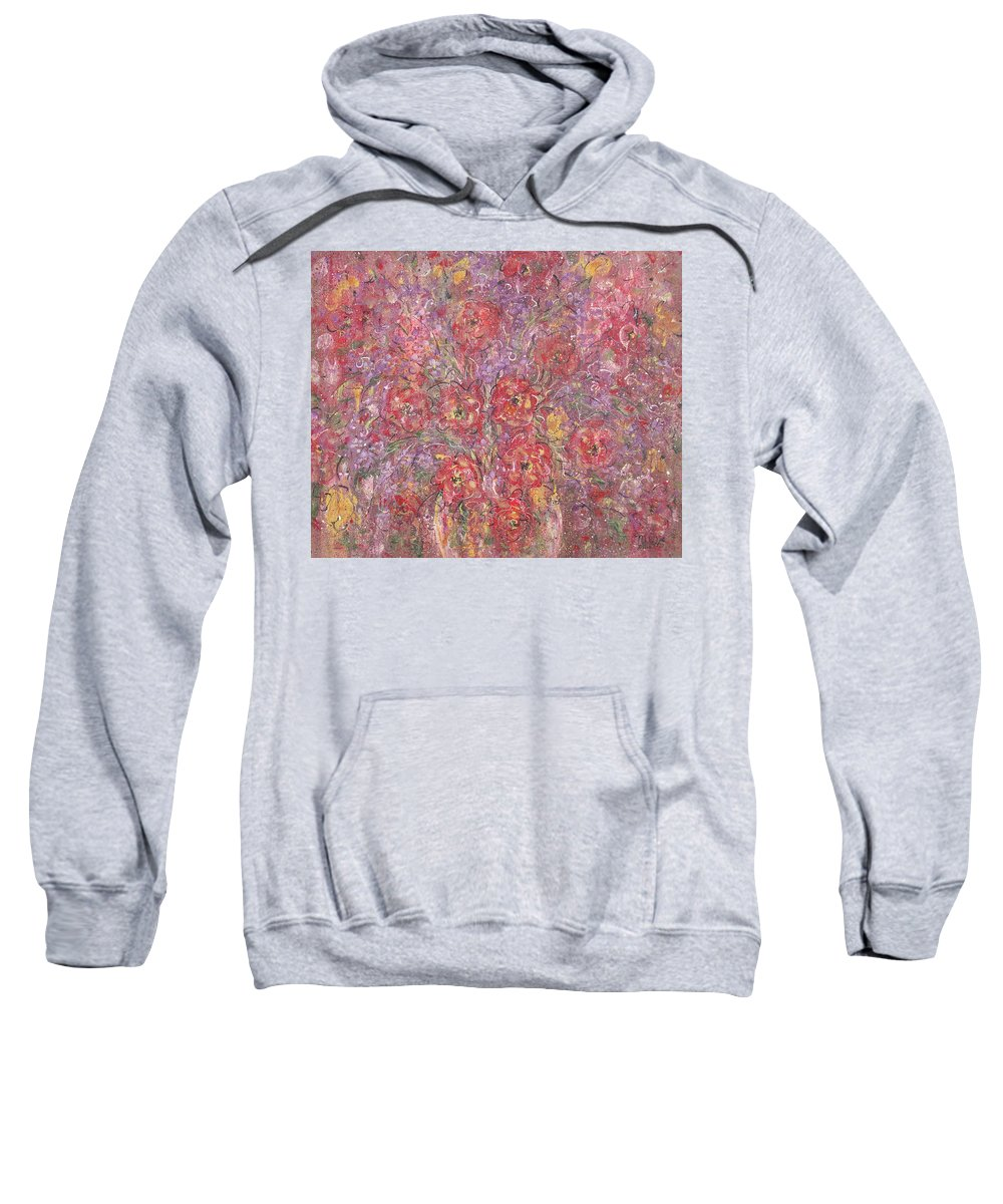 Still Life Sweatshirt featuring the painting Sweet Memories by Natalie Holland
