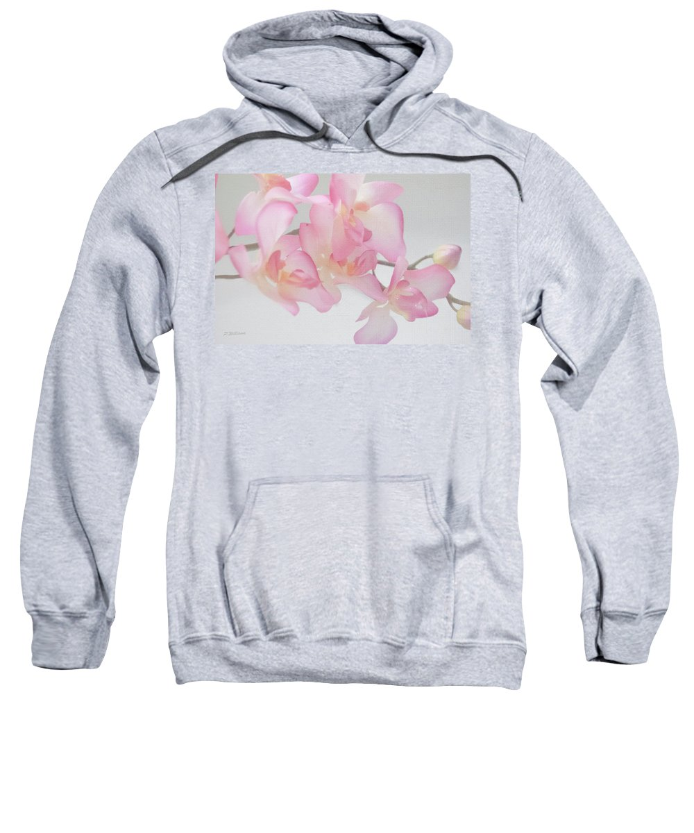 Flower Sweatshirt featuring the photograph Sweet Orchid by Pamela Williams