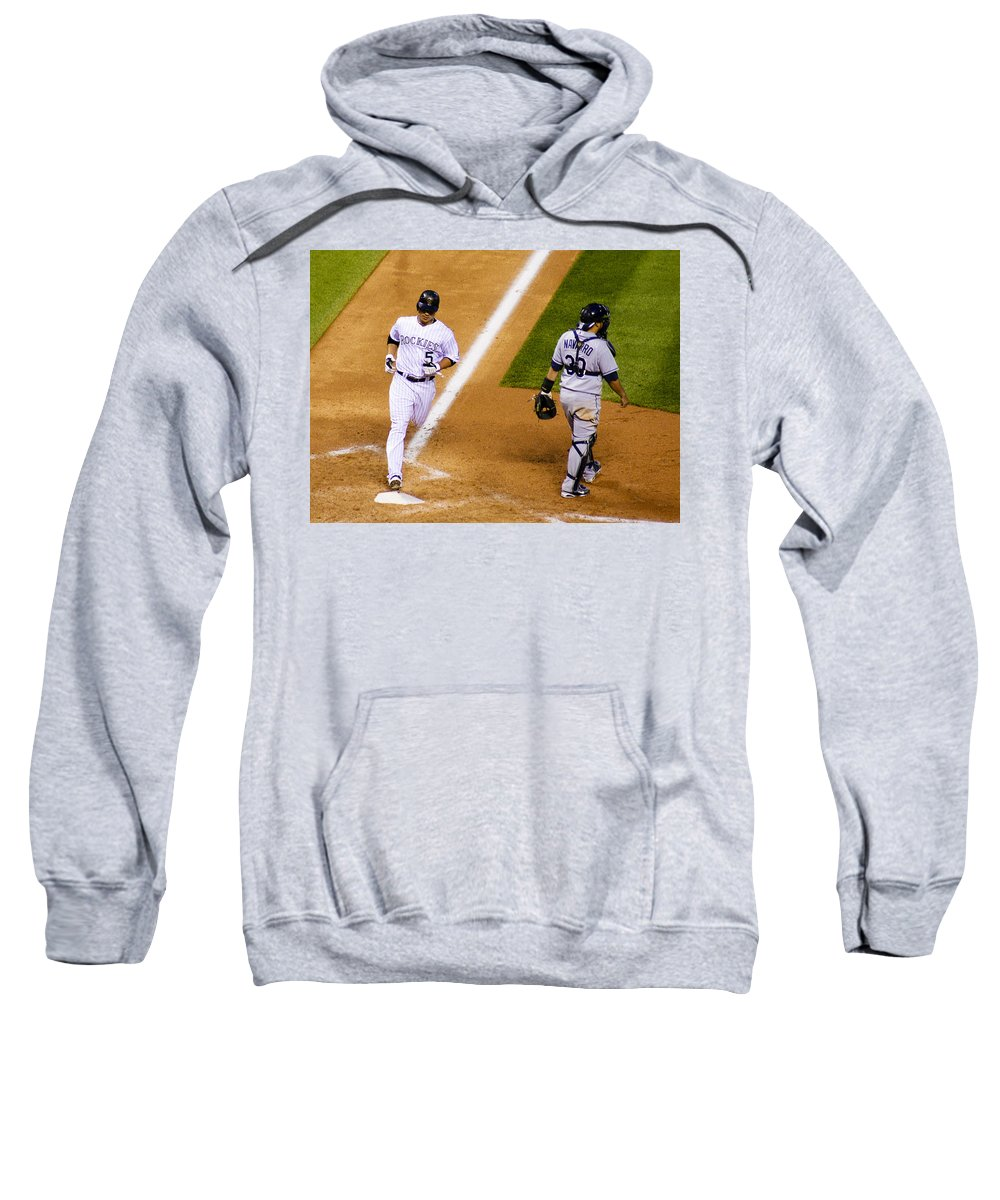 Baseball Sweatshirt featuring the photograph Sweet Success by Marilyn Hunt