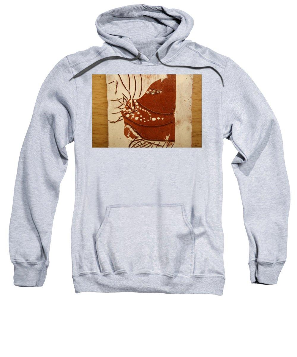 Jesus Sweatshirt featuring the ceramic art Sweethearts 7 - Tile by Gloria Ssali