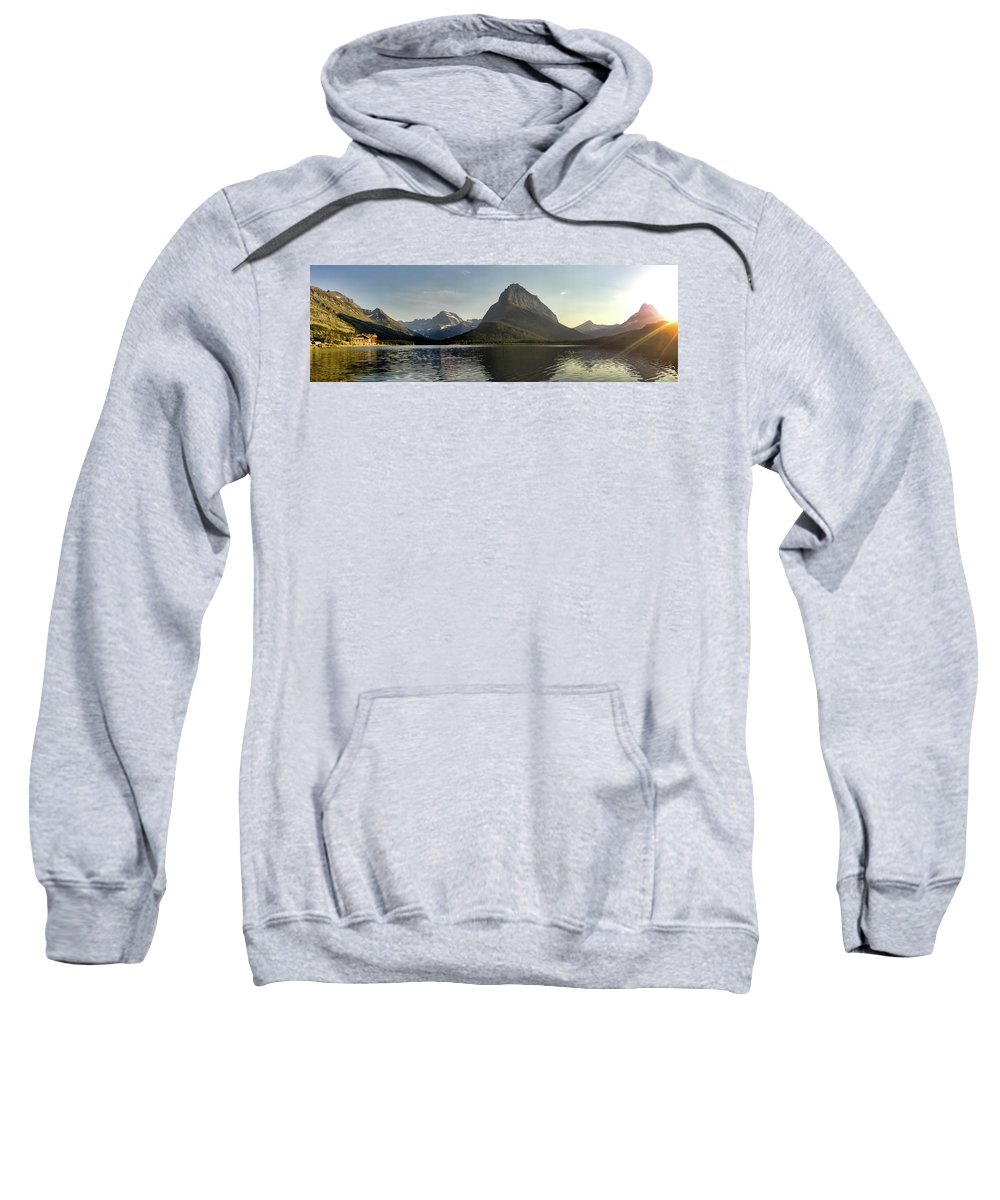 Water Sweatshirt featuring the photograph Swift Current Panorama by Alan Anderson