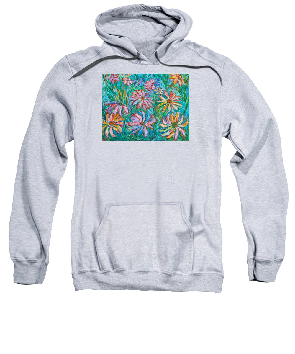 Impressionist Sweatshirt featuring the painting Swirling Color by Kendall Kessler