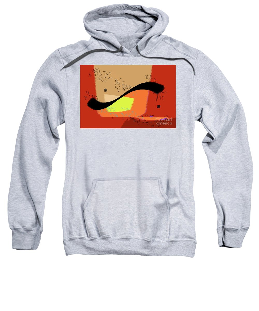 Abstract Sweatshirt featuring the photograph Swoosh, Abstract by Michael Ziegler