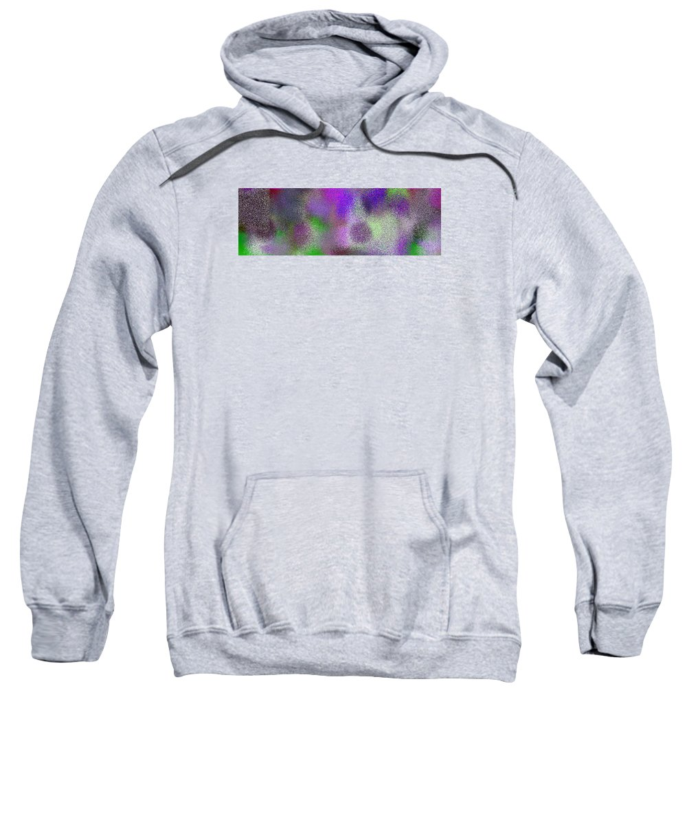 Abstract Sweatshirt featuring the digital art T.1.1989.125.3x1.5120x1706 by Gareth Lewis