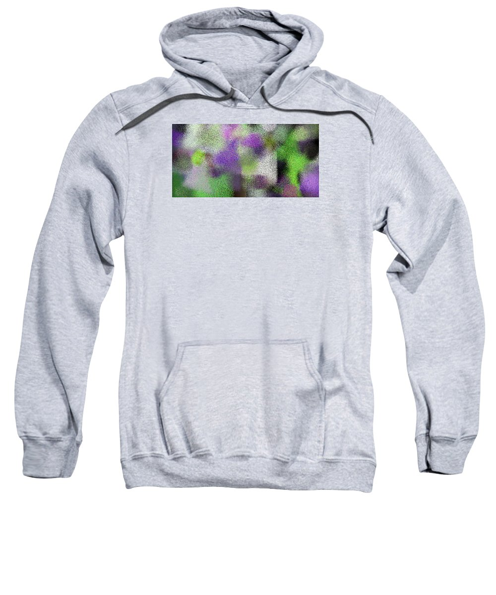 Abstract Sweatshirt featuring the digital art T.1.2019.127.2x1.5120x2560 by Gareth Lewis