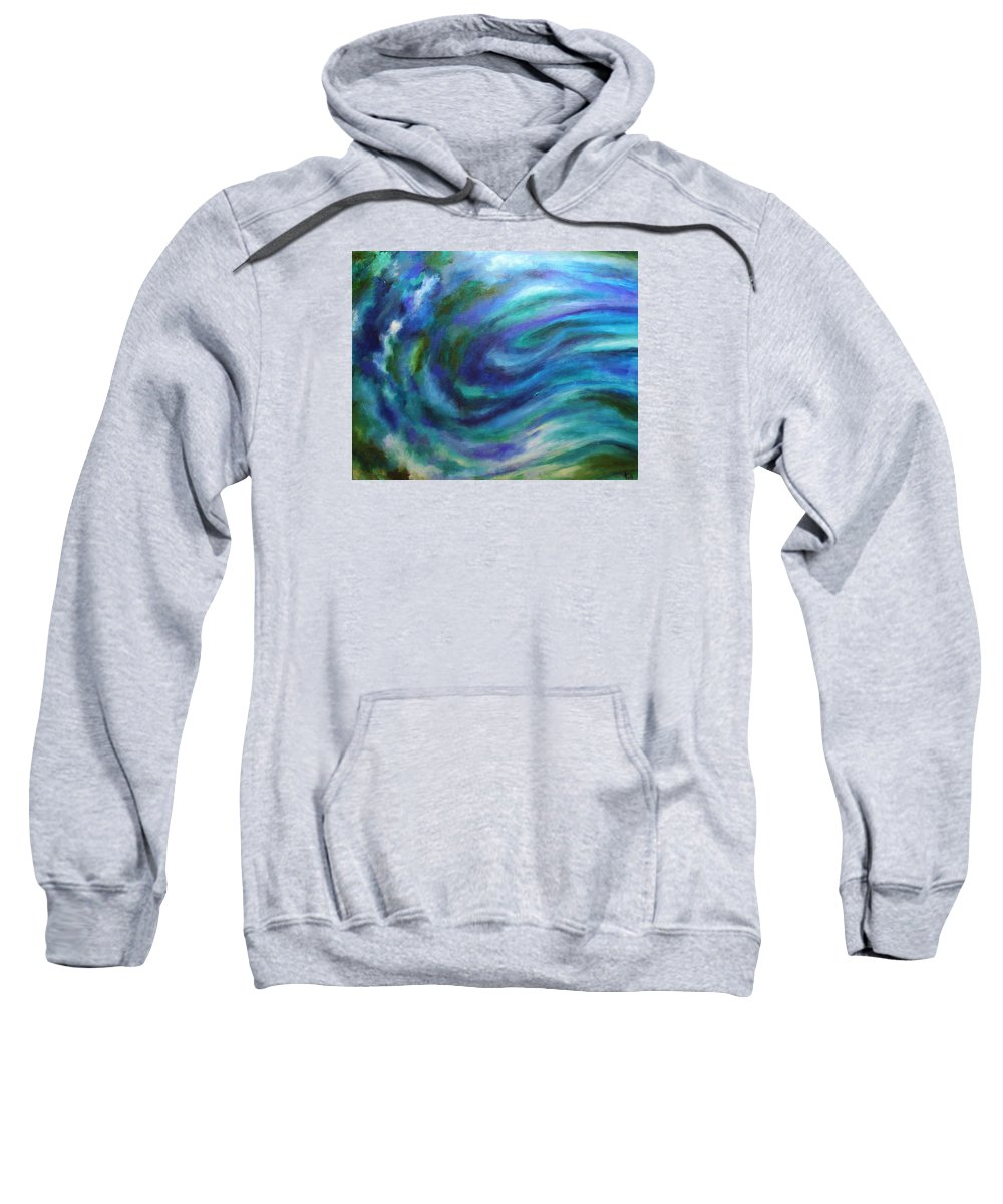2008 Sweatshirt featuring the painting Tahoe by Will Felix