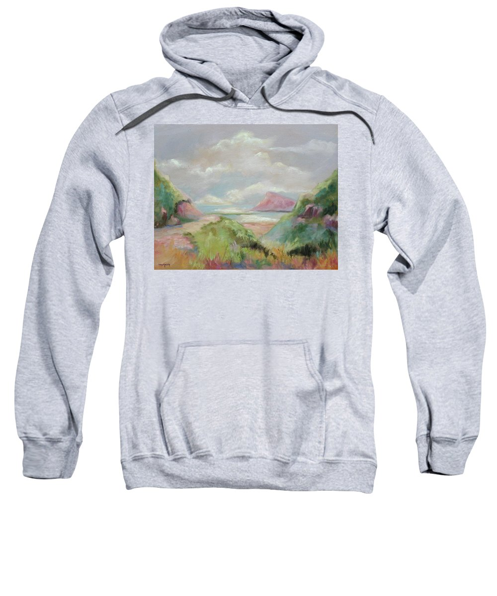 Seascape Sweatshirt featuring the painting Taiwan Inlet by Ginger Concepcion