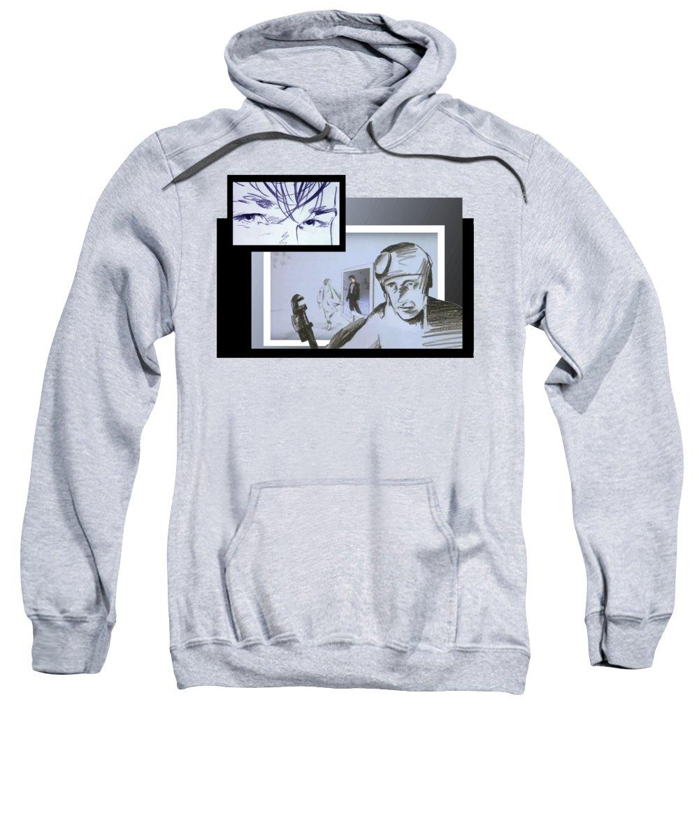 Aha Sweatshirt featuring the digital art Take On Me Cool Comic book Style Pop Art by Filip Schpindel
