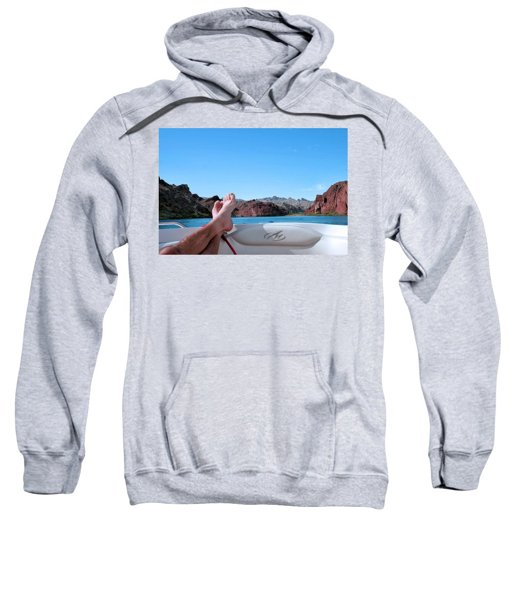 Boat Sweatshirt featuring the photograph Takin It Easy by Kristin Elmquist