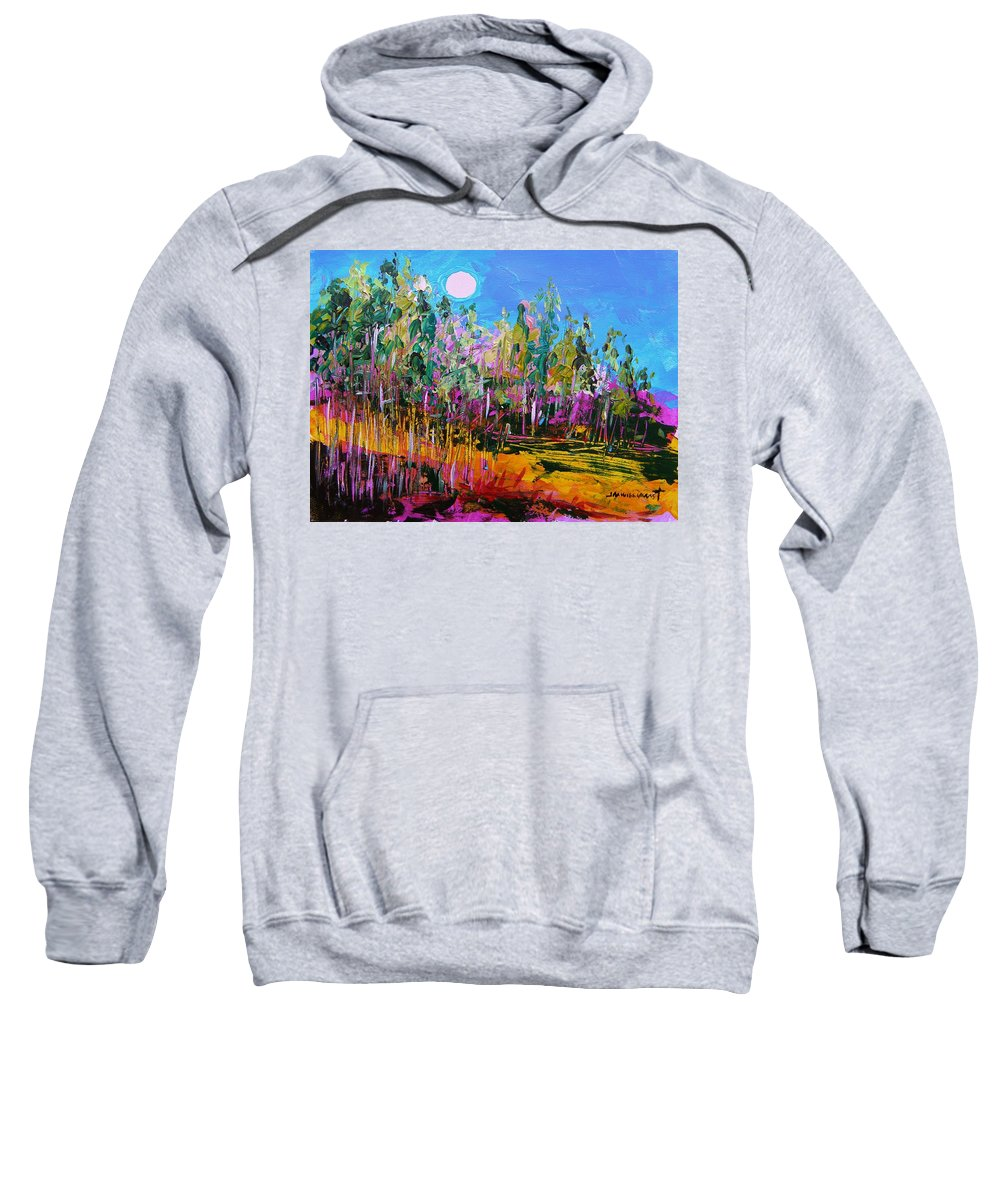 Moon Sweatshirt featuring the painting Tall Left And Front by John Williams
