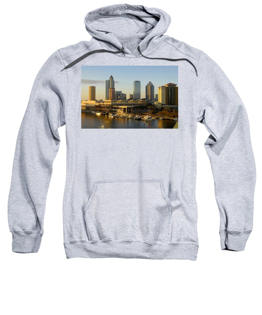 Tampa Bay Florida Sweatshirt featuring the photograph Tampa Bay And Gasparilla by David Lee Thompson