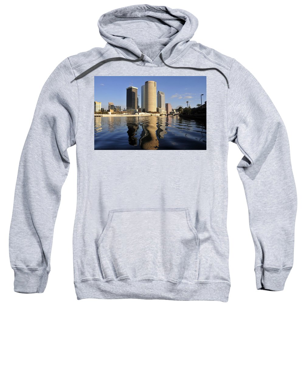 Tampa Bay Florida Sweatshirt featuring the photograph Tampa Florida 2010 by David Lee Thompson