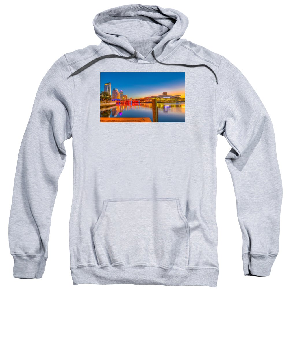 Tampa Bay Sweatshirt featuring the photograph Tampa Sunrise by Lance Raab