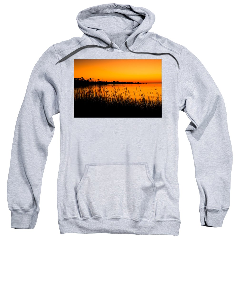 Beach Sweatshirt featuring the photograph Tangerine Sunset by Rich Leighton