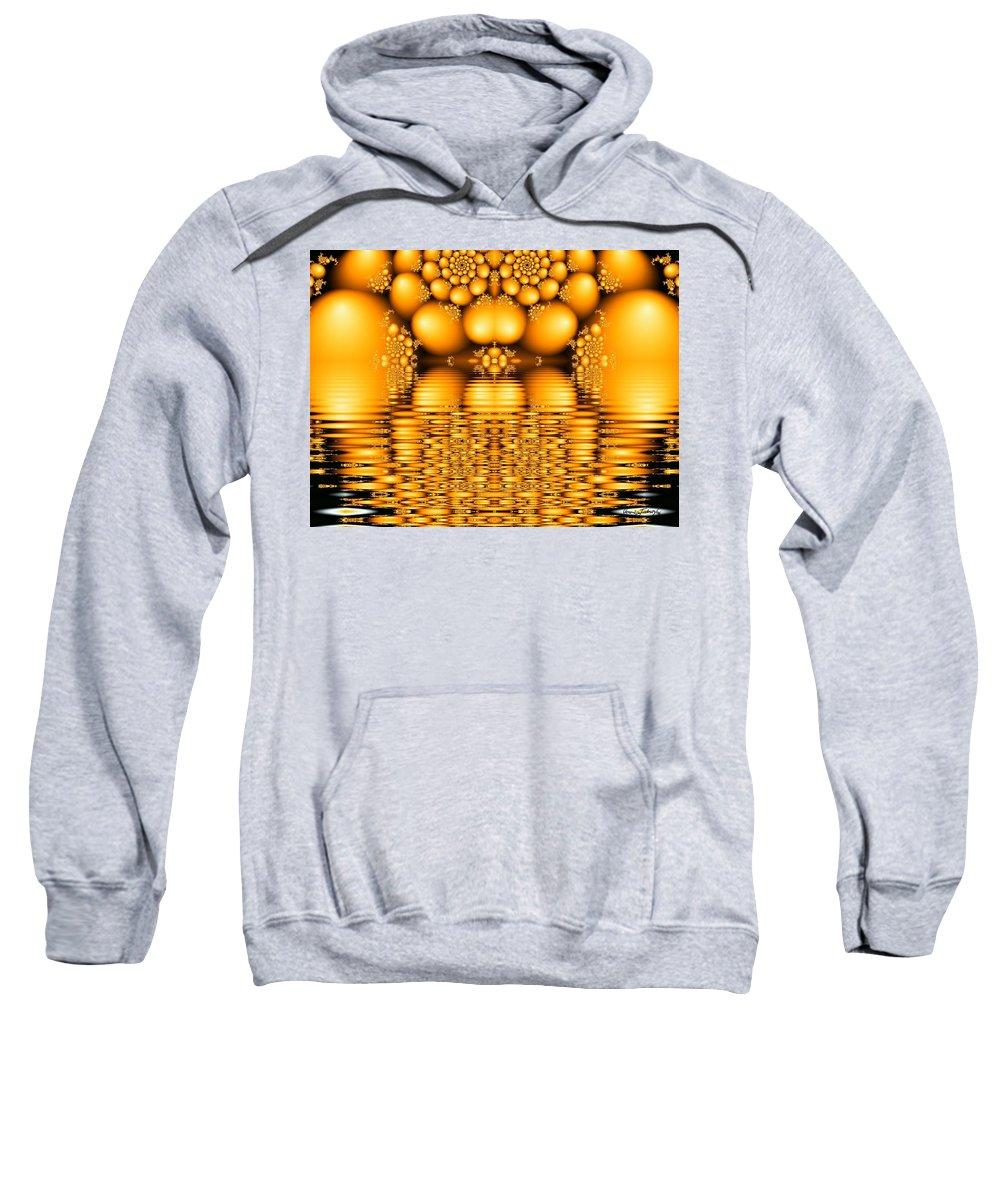 Tangerine Orange Water Sacred Tears Sweatshirt featuring the digital art Tangerine Tears by Veronica Jackson