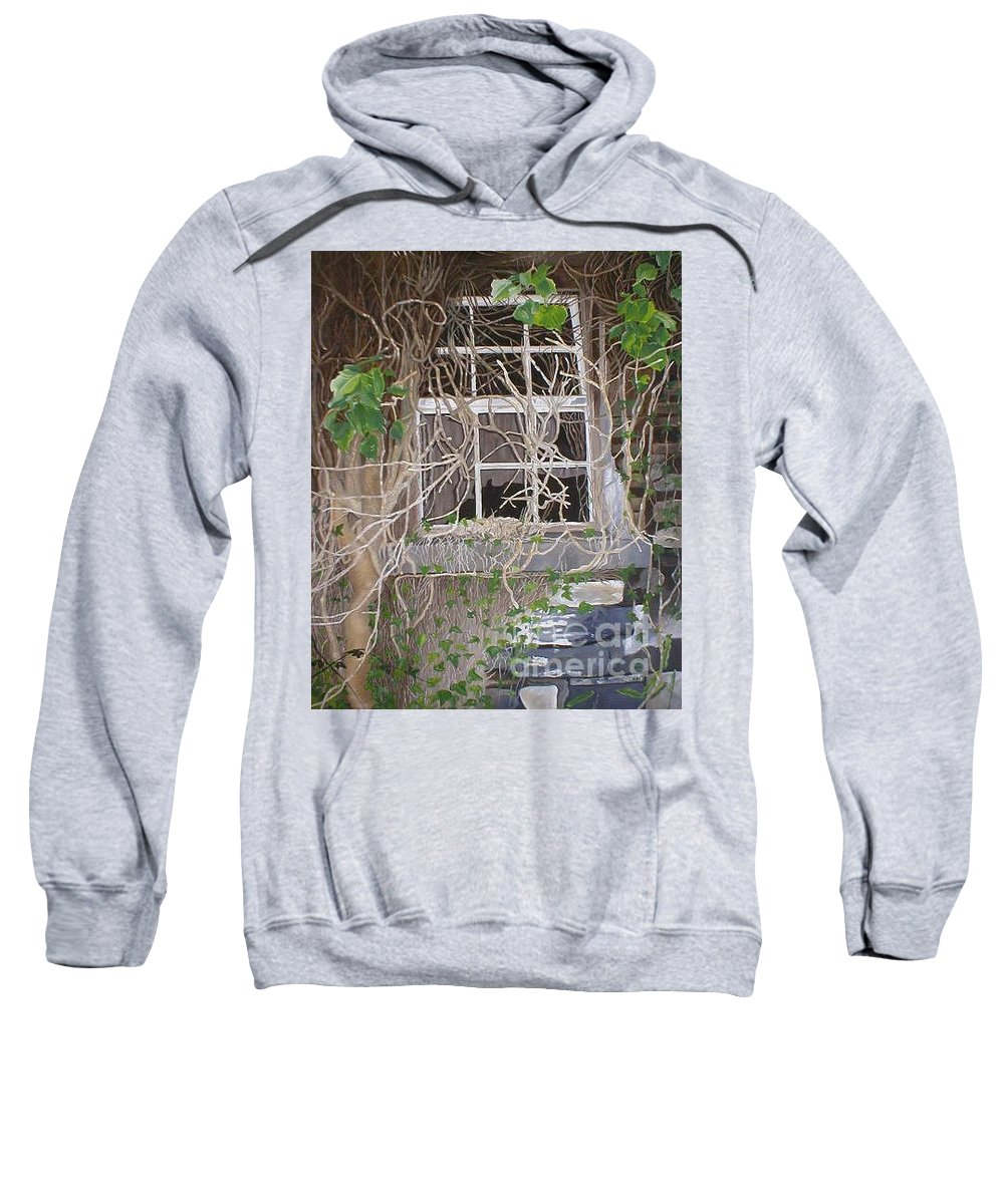 Landscape Sweatshirt featuring the painting Tangle Of Memories-clounleharde School by Pauline Sharp
