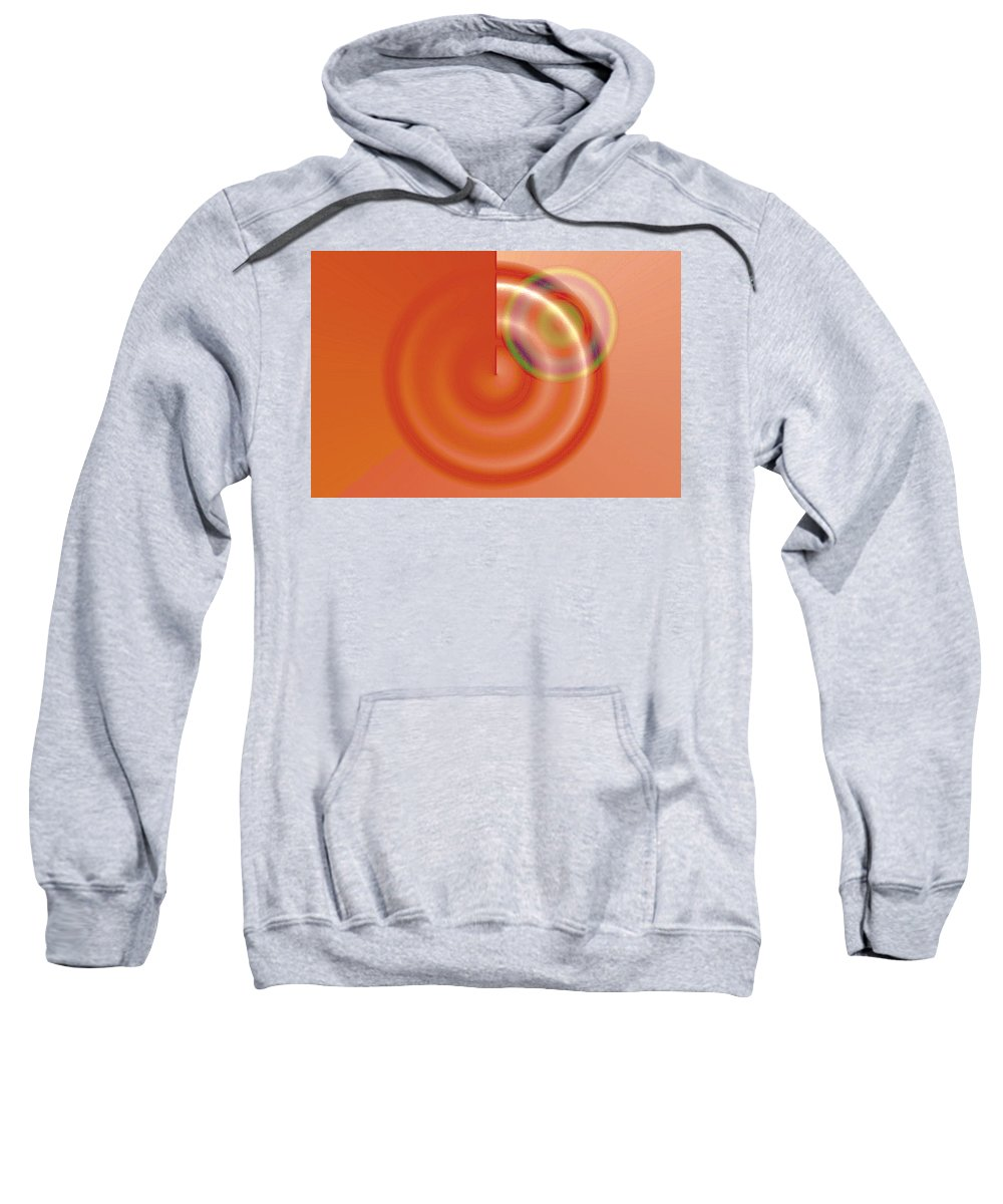 Abstract Sweatshirt featuring the digital art Targe Citron by Susan Baker