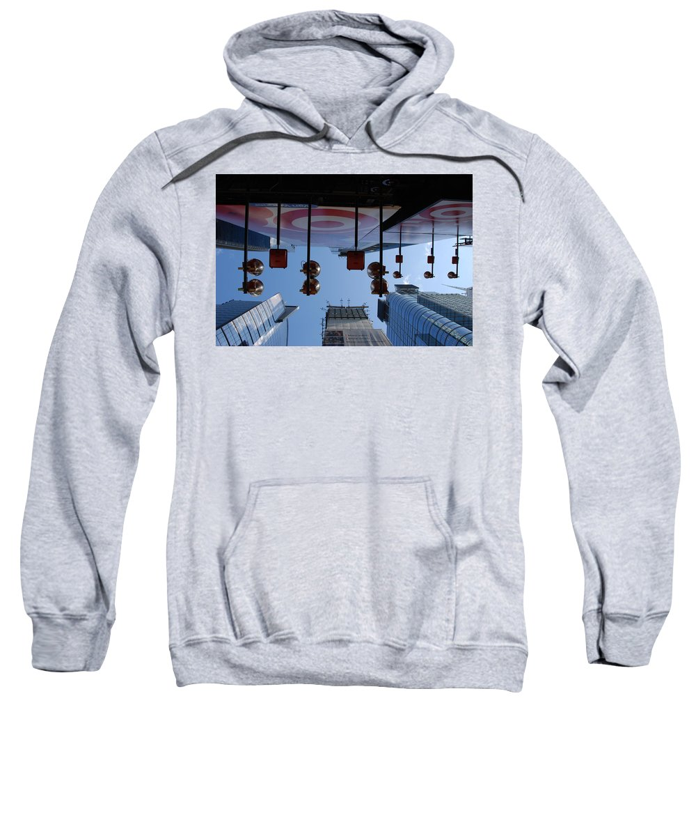Architecture Sweatshirt featuring the photograph Target Lights by Rob Hans