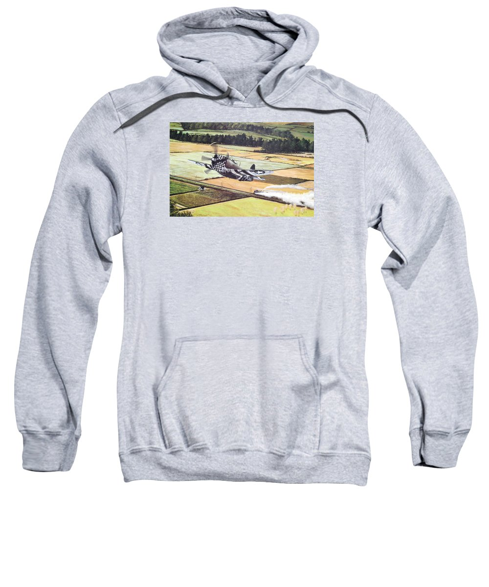 Military Sweatshirt featuring the painting Target Of Opportunity by Marc Stewart