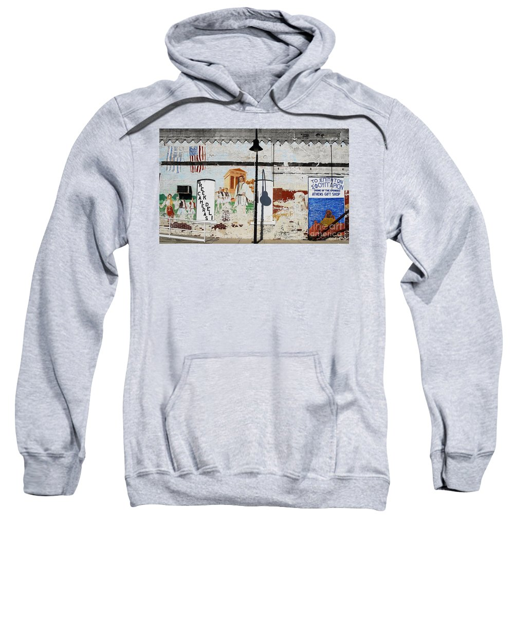 Greek Sweatshirt featuring the photograph Tarpon Springs by David Lee Thompson