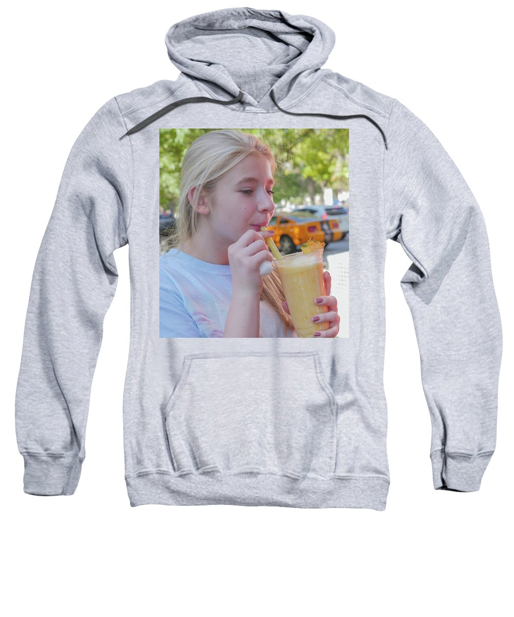 Girl Sweatshirt featuring the photograph Tasty Smoothie by Billy Joe
