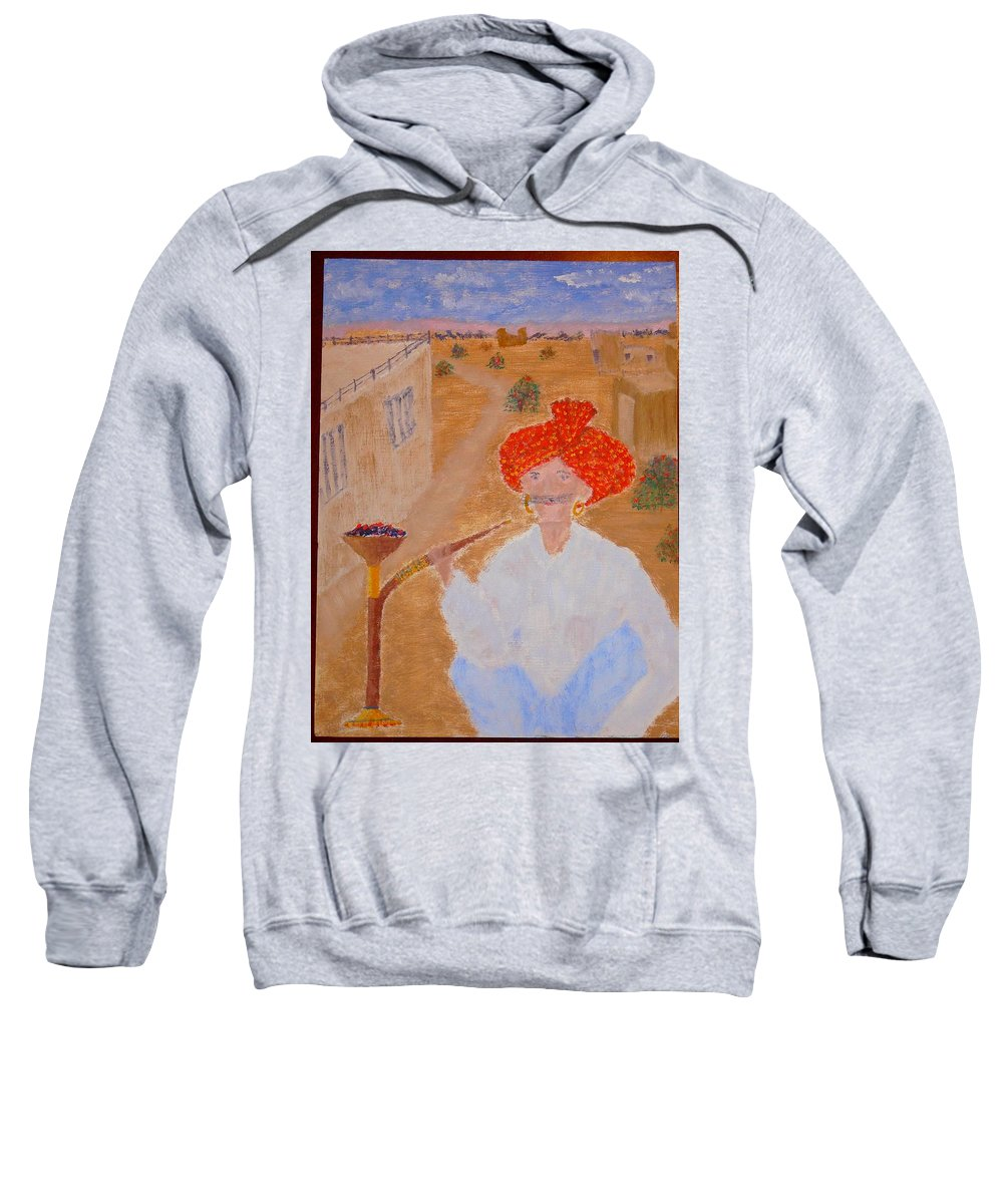 People Sweatshirt featuring the painting Tau by R B