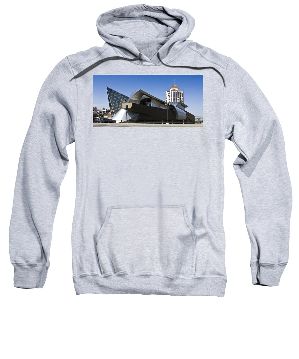 Roanoke Sweatshirt featuring the photograph Taubman And Tower Roanoke Virginia by Teresa Mucha