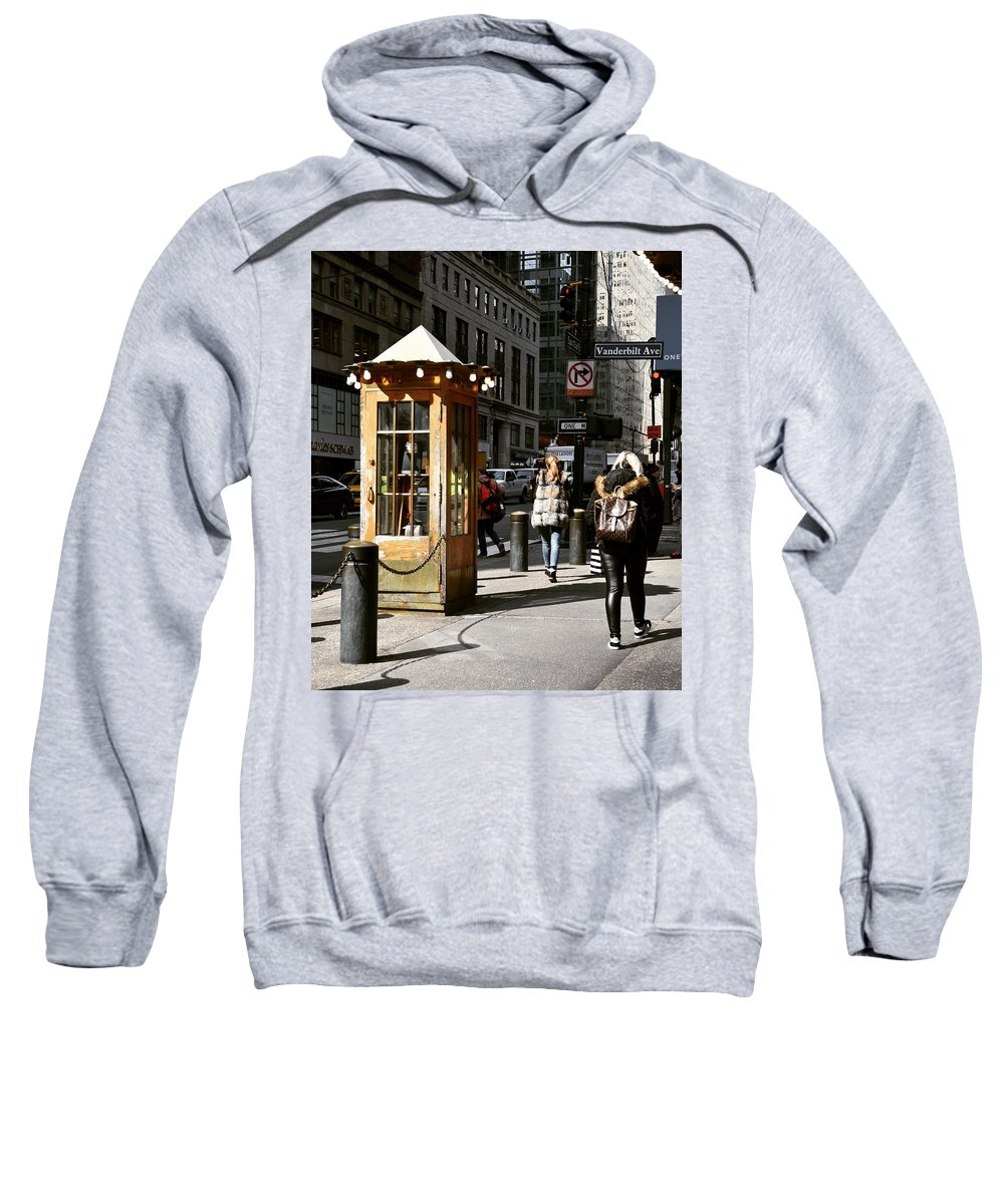 Booth Sweatshirt featuring the photograph Taxi Booth by Aya Edlin