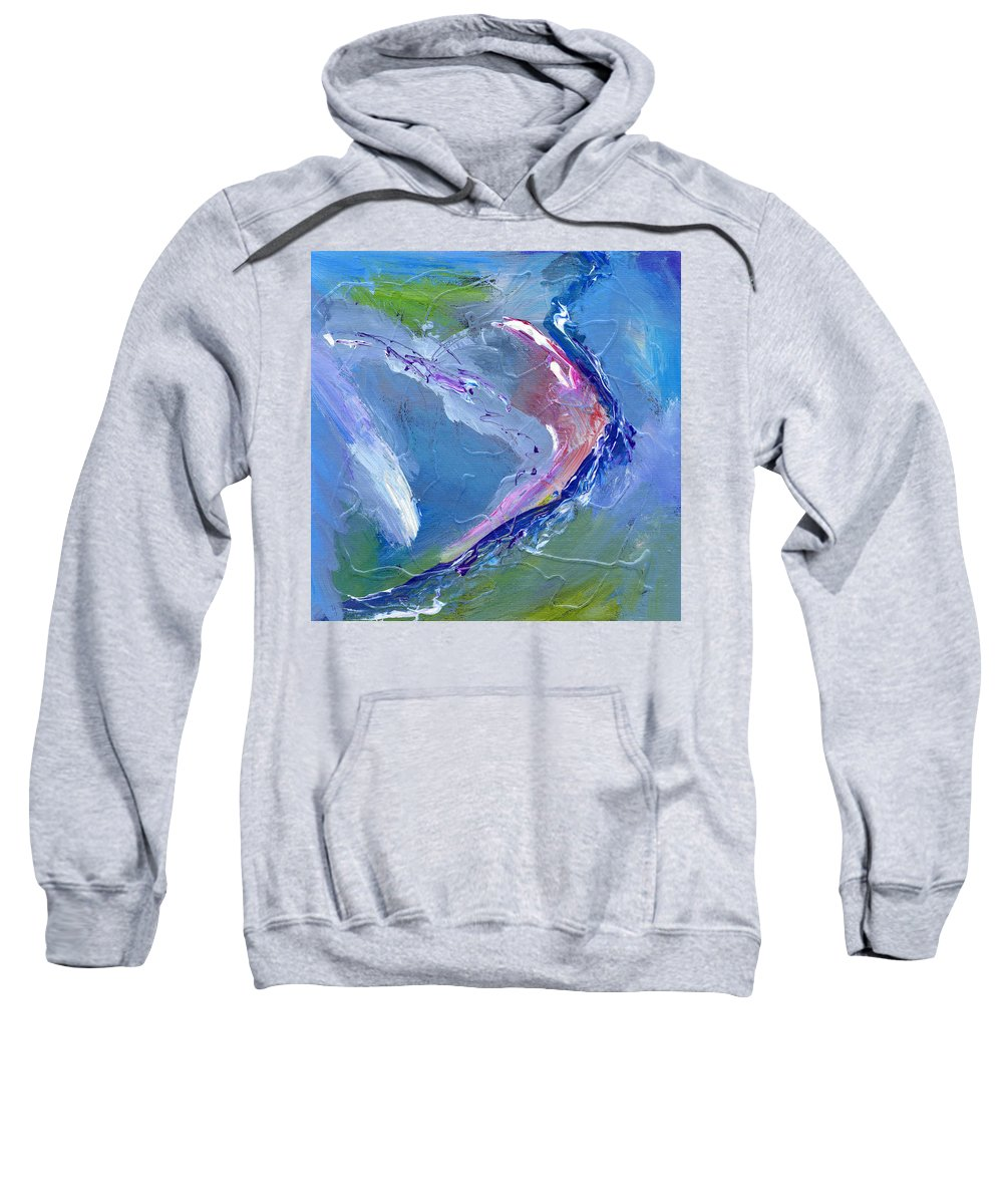 Abstract Sweatshirt featuring the painting Teahupoo by Dominic Piperata