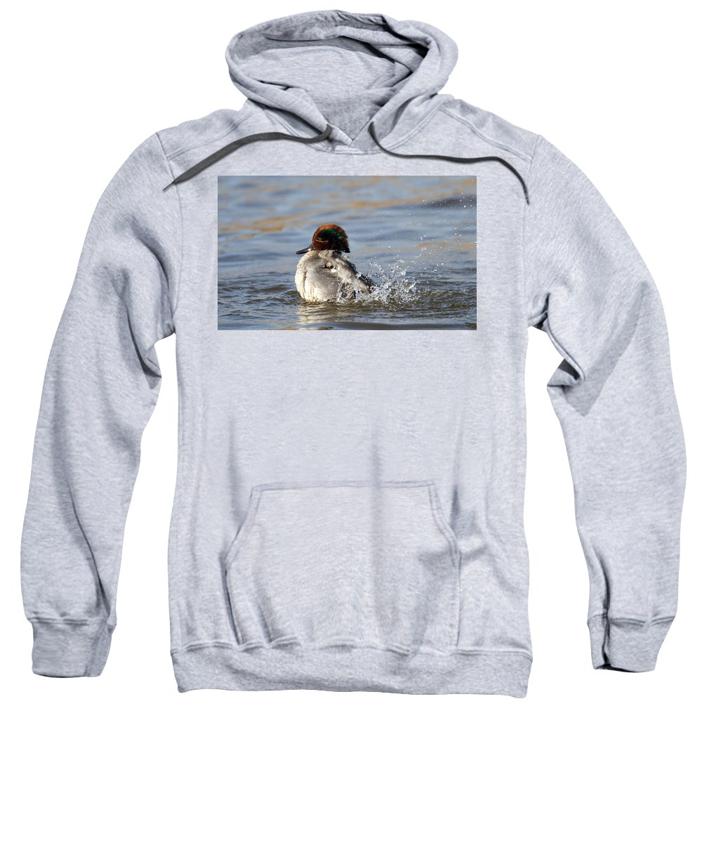 Teal Sweatshirt featuring the photograph Teal Awash by Bob Kemp