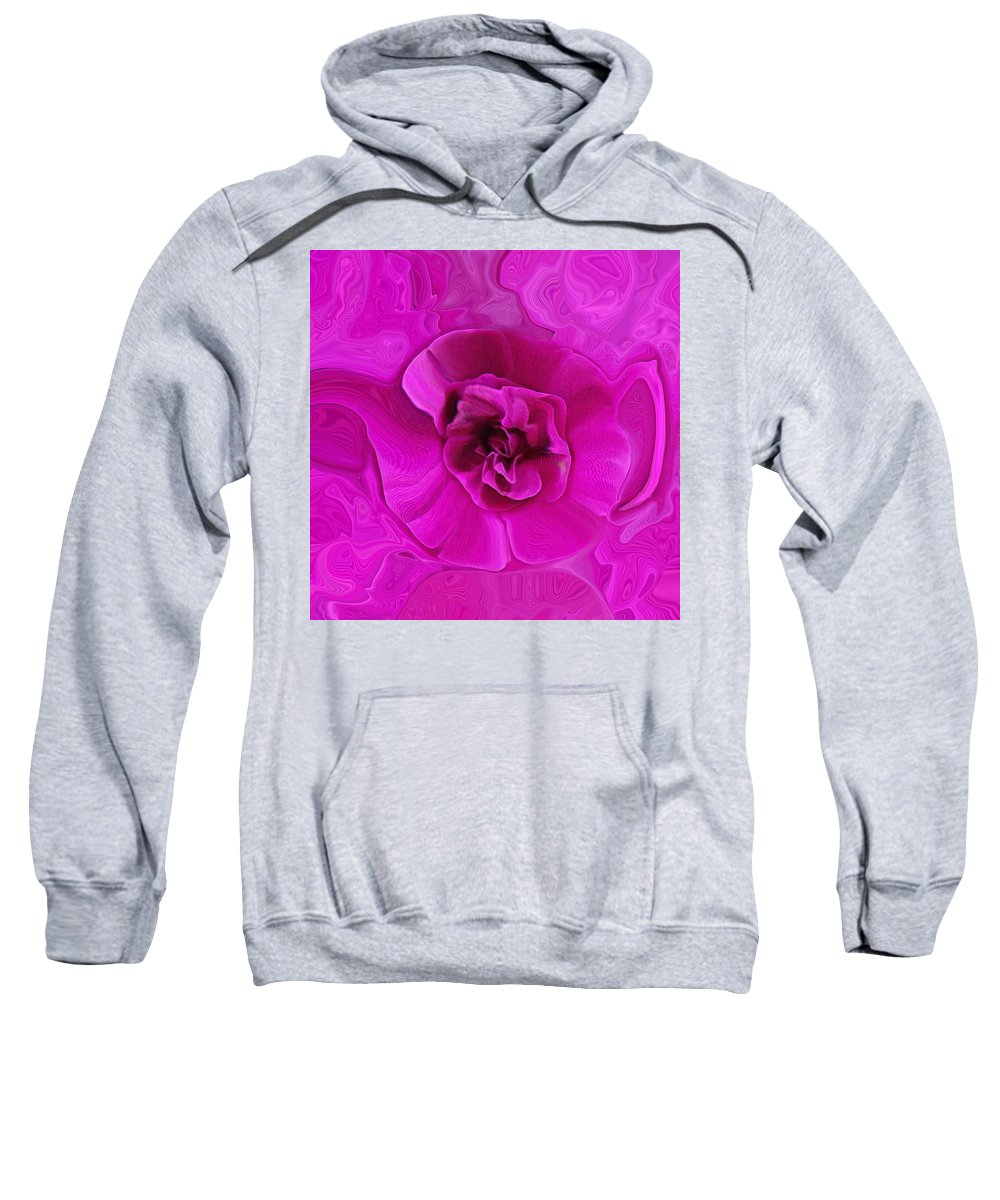 Abstract Sweatshirt featuring the photograph Teapot Rose by Ernie Echols