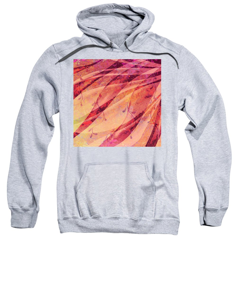 Abstract Sweatshirt featuring the digital art Tear Catcher by Rachel Christine Nowicki
