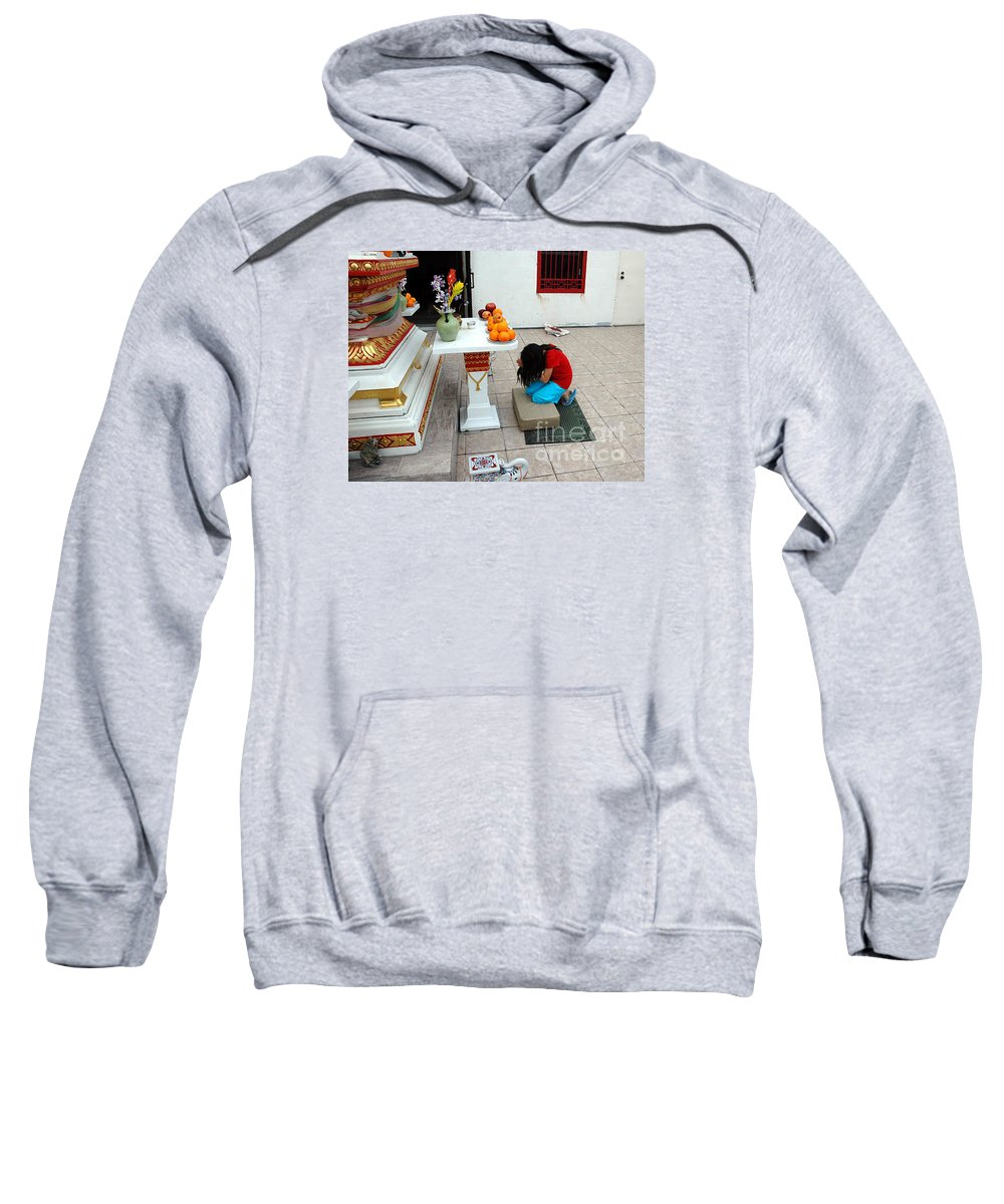 Child Sweatshirt featuring the photograph Temple prayer by Michael Ziegler