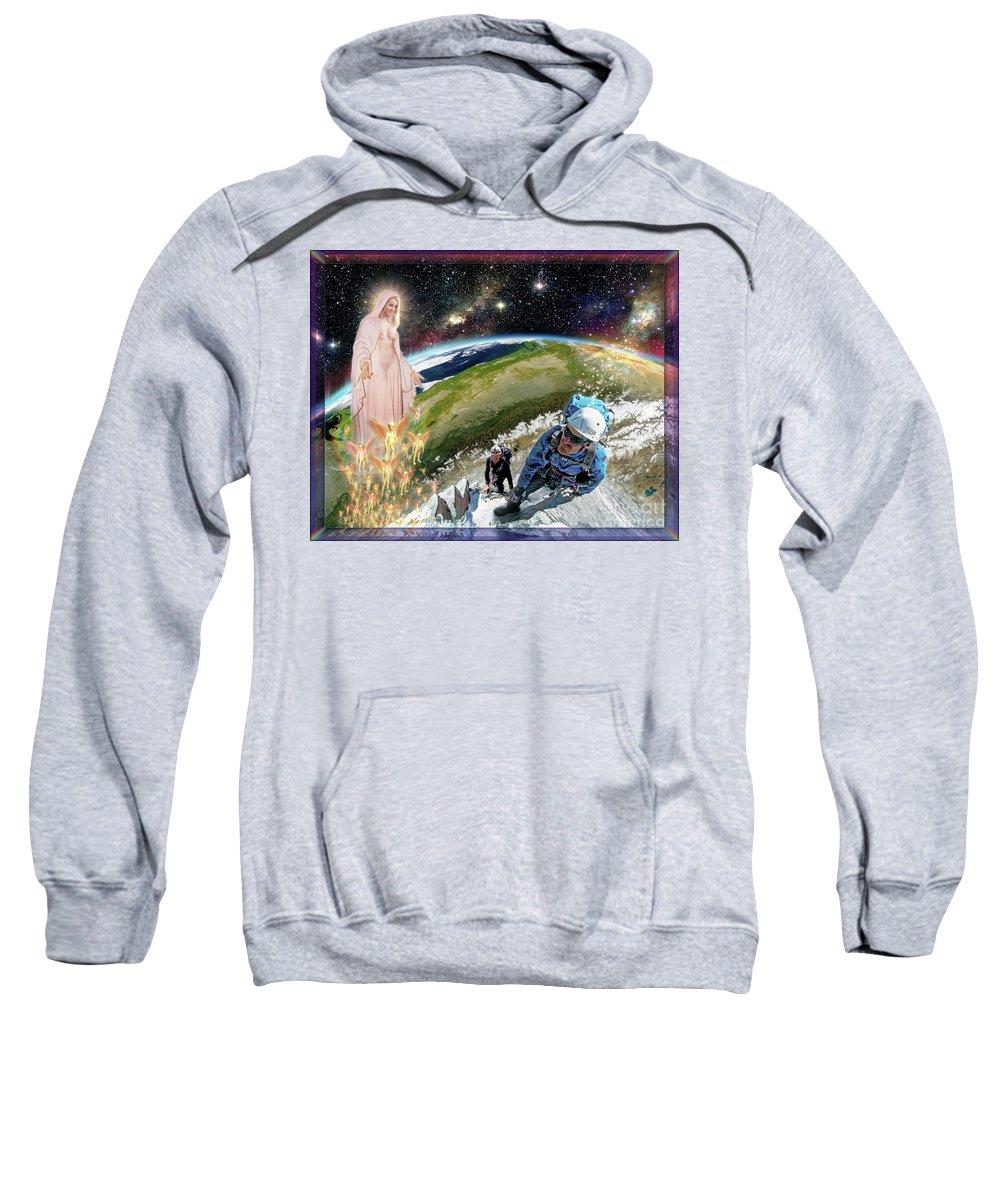 Sky Sweatshirt featuring the photograph Temptation of Saint Swarun by Leonard Rubins