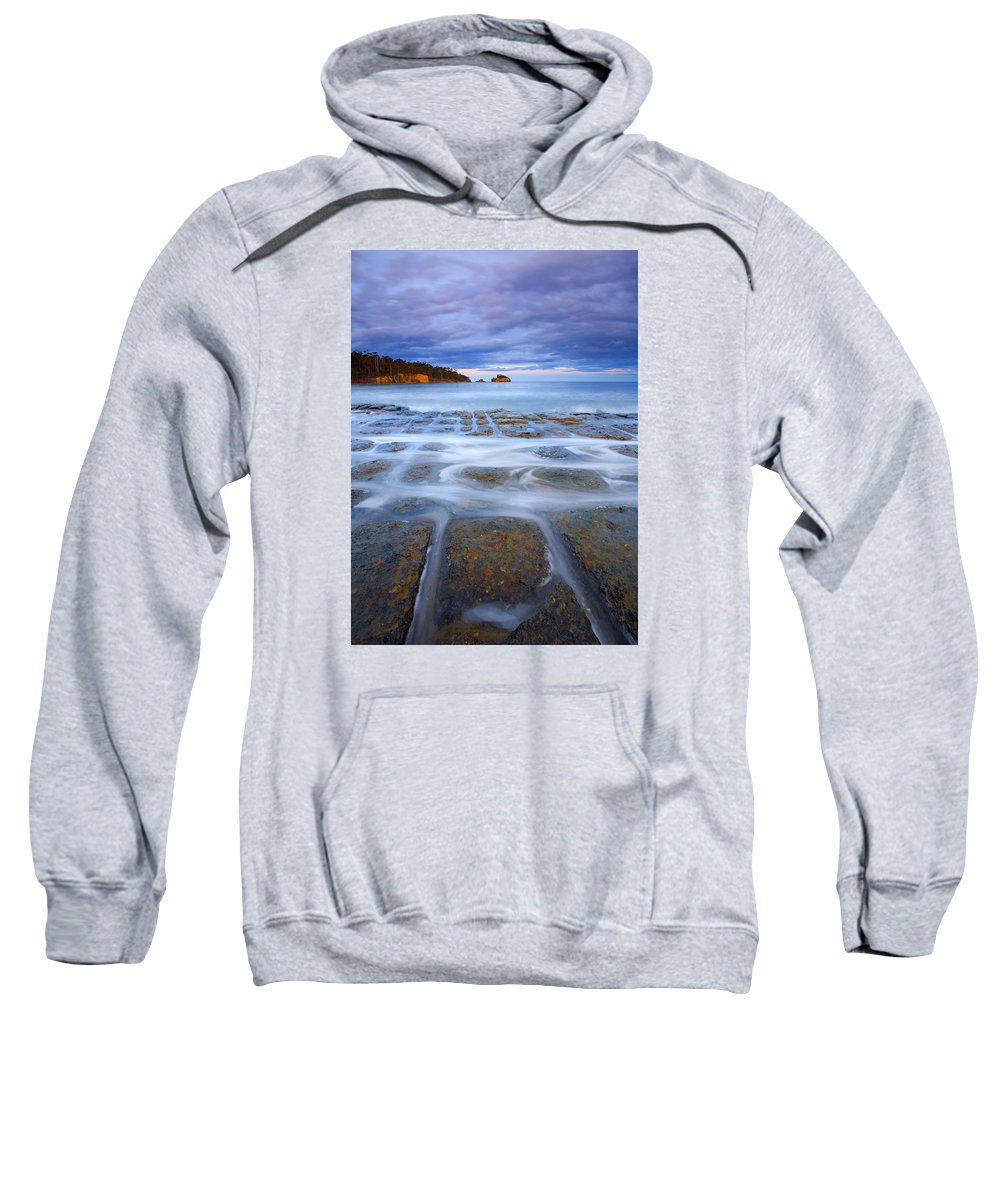 Sunset Sweatshirt featuring the photograph Tesselated Sunset by Mike Dawson