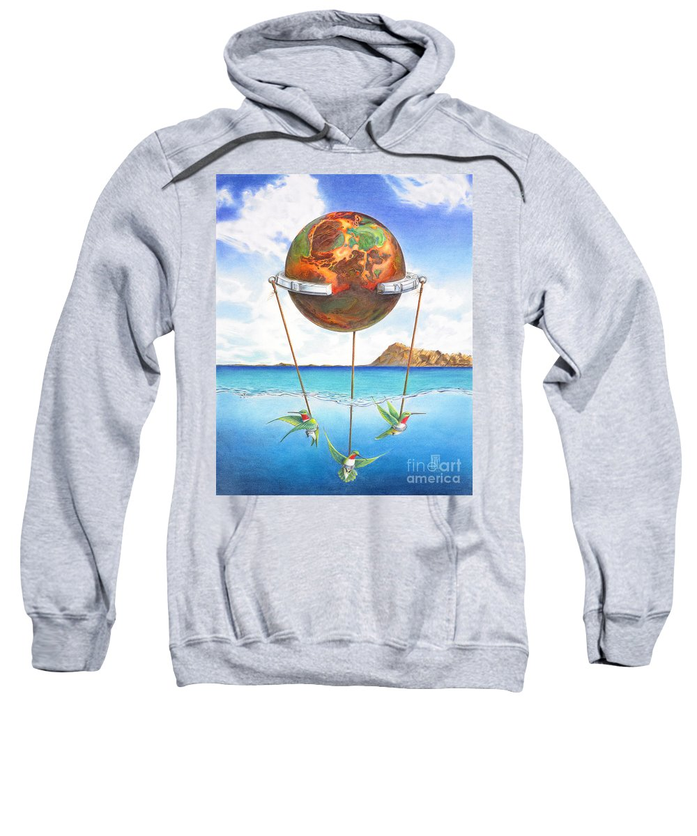 Surreal Sweatshirt featuring the painting Tethered Sphere by Melissa A Benson