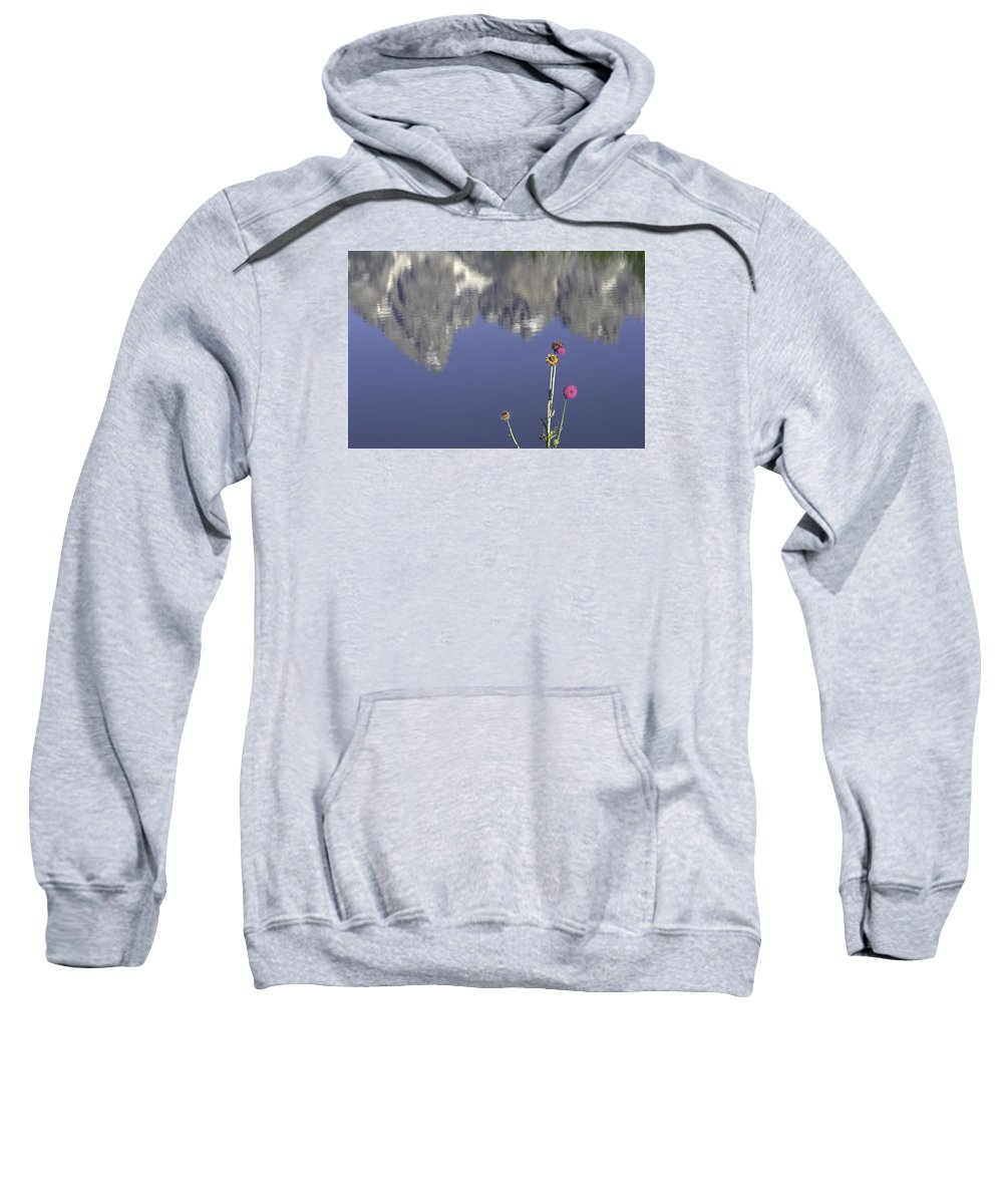 Grand Teton National Park Sweatshirt featuring the photograph Teton Reflections by Elizabeth Eldridge
