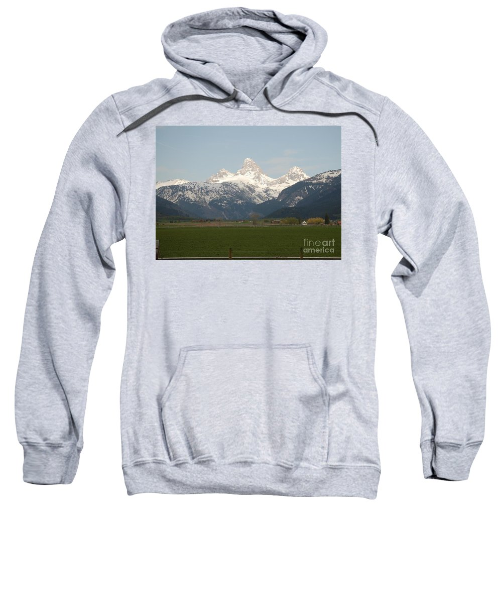 Valley Sweatshirt featuring the photograph Teton Valley by Lucy Bounds