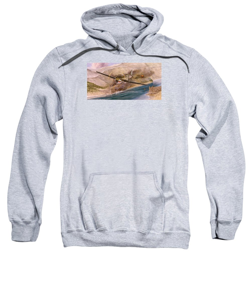 Painting Sweatshirt featuring the painting Tex Hill Over The Salween Gorge by Marc Stewart