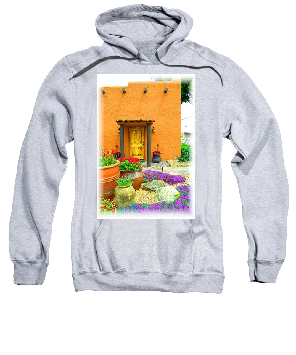 Adobe Sweatshirt featuring the photograph Texas Fiesta-style by Gale Cochran-Smith