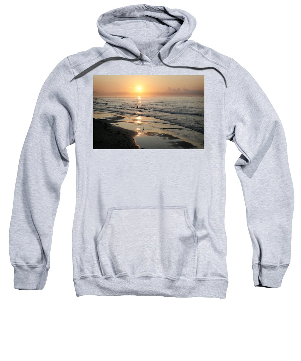 Water Sweatshirt featuring the photograph Texas Gulf Coast At Sunrise by Marilyn Hunt