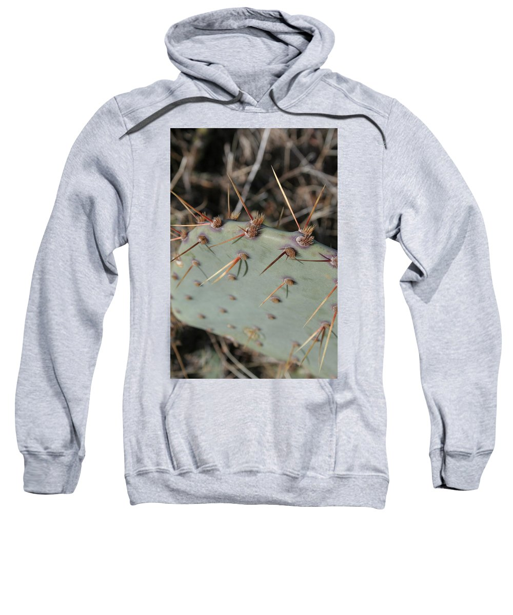 Spike Sweatshirt featuring the photograph Texas Spikes by Laddie Halupa