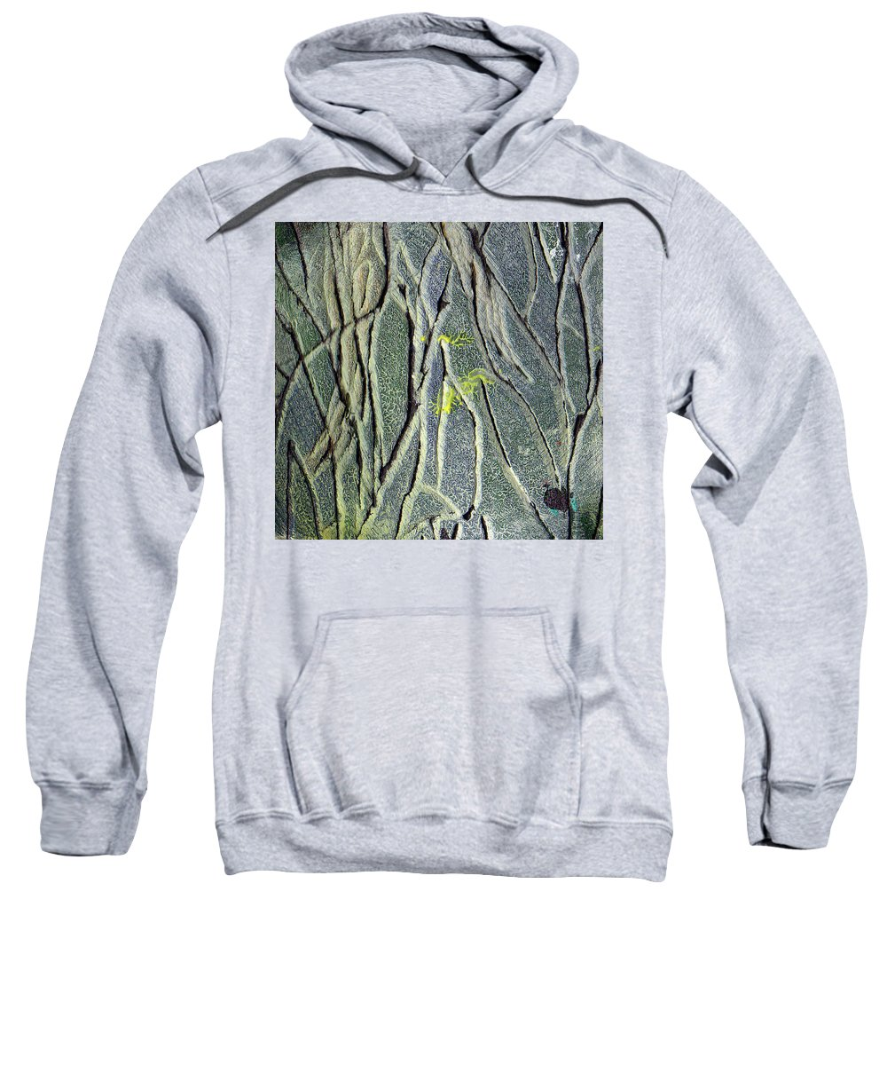 Abstract Sweatshirt featuring the painting Texture Study One  Entanglement by Wayne Potrafka