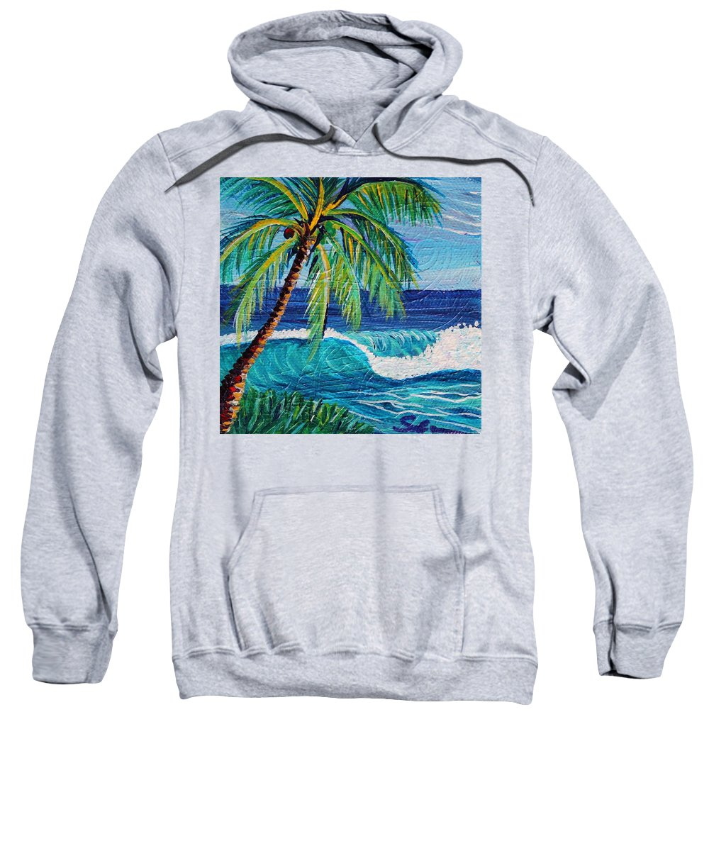 Sweatshirt featuring the painting Textures Of Afternoon by Suzanne MacAdam