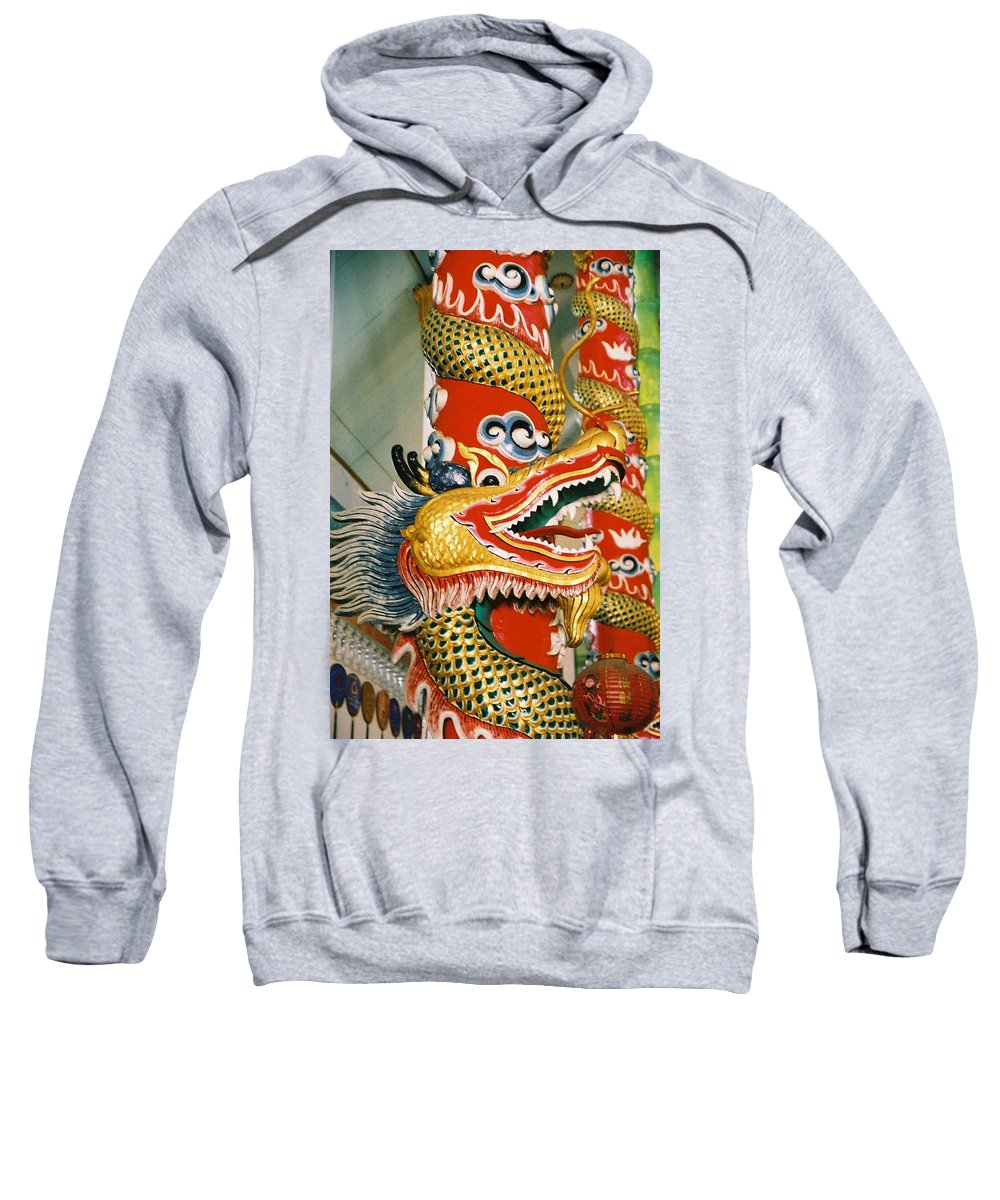 Animal Sweatshirt featuring the photograph Thai Dragon by Mary Rogers