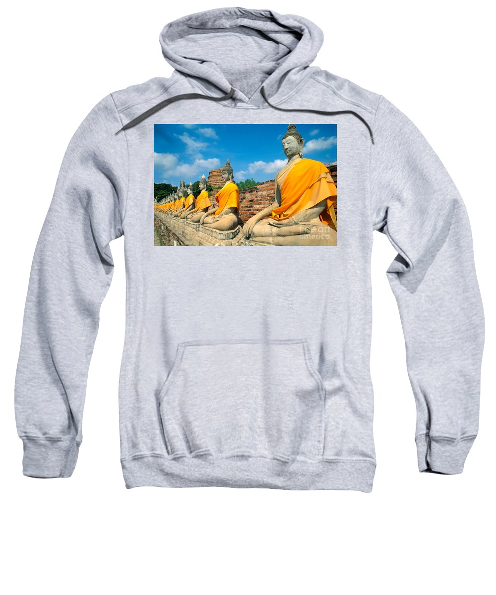 Ayuthaya Sweatshirt featuring the photograph Thailand, Ayathaya by Rita Ariyoshi - Printscapes